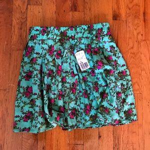 Mint/fuchsia skirt F21